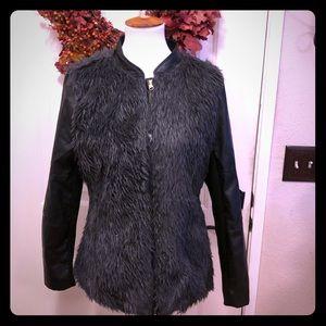 Miss London Vegan Faux Fur Jacket NWOT